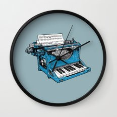 The Composition - Original Colors. Wall Clock
