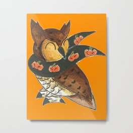 Happy Owl-o-Ween! Metal Print