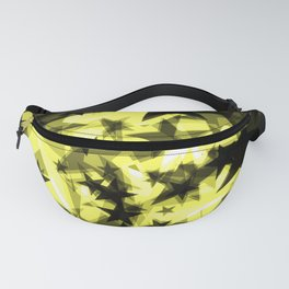 Dark yellow cosmic stars with a glow of foil in perspective. Fanny Pack