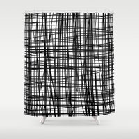 striped Shower Curtains featuring striped by nionio.design