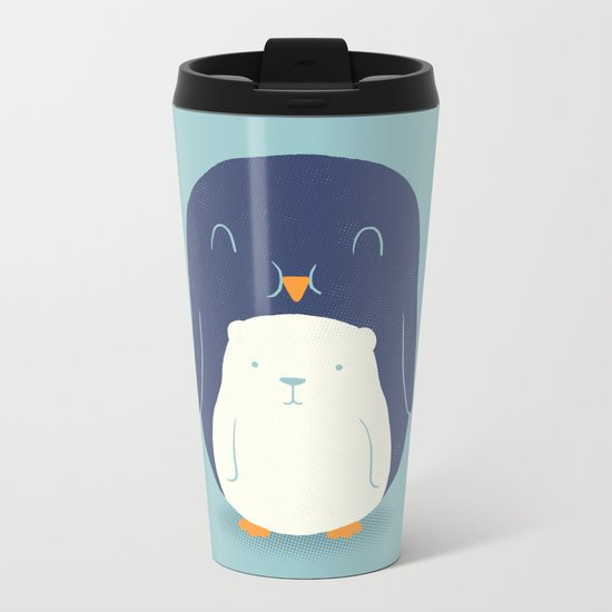 My Belly is a Polar Bear Metal Travel Mug