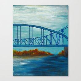 Fall Cass Street Bridge 3 of 4 Canvas Print
