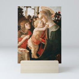 "Sandro Botticelli ""Madonna and Child with St. John the Baptist"" Mini Art Print"
