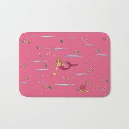 Fashionable mermaid - pink Bath Mat