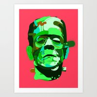 frank Art Prints featuring Frank. by Huxley Chin