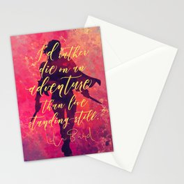 I'd rather die on an adventure...Lila Bard. A Darker Shade of Magic (ADSOM) Stationery Cards