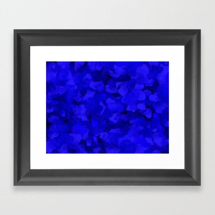 Rich Cobalt Blue Abstract Gerahmter Kunstdruck