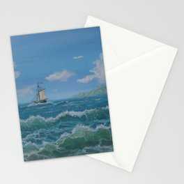Happy day on the ocea Stationery Cards