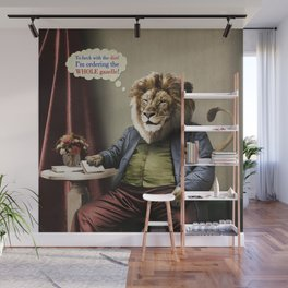 Hungry Lion Wall Mural