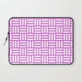 Basketweave (Magenta & White Pattern) Laptop Sleeve