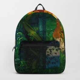 Awesome guitar in a forgotten world Backpack