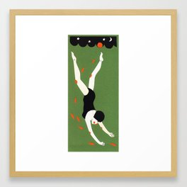 Night swimming Framed Art Print