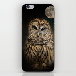 Barred Owl and the Moon iPhone Skin