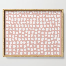 Dots / Pink Serving Tray