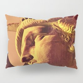 Statue of Liberty, United States National Monument,  close-up view of face and crown Pillow Sham