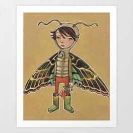 Moth Boy Art Print