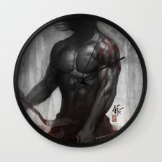 Samurai Vengeance Wall Clock