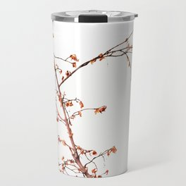 Tree Branch in a Red Frame.  Travel Mug