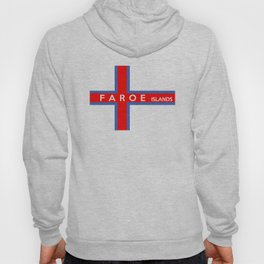 faroe islands country flag name text Hoody