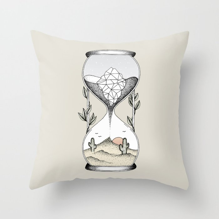Time Is Running Out Throw Pillow
