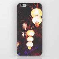 lanterns iPhone & iPod Skins featuring Lanterns by Kaartik Gupta