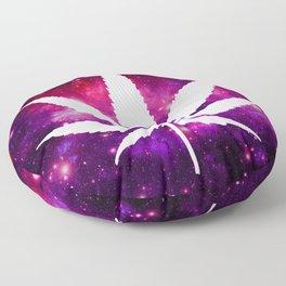 Weed : High Times Fuchsia Pink Purple Galaxy Floor Pillow