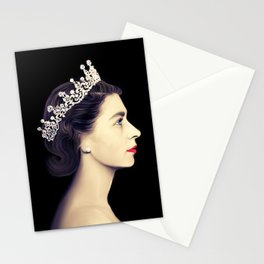 QUEEN ELIZABETH II - THE YOUNG QUEEN IN PROFILE Stationery Cards