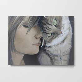 Purrrfect Friends Metal Print