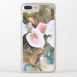 Calla lilies Clear iPhone Case