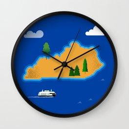 Kentucky Island Wall Clock