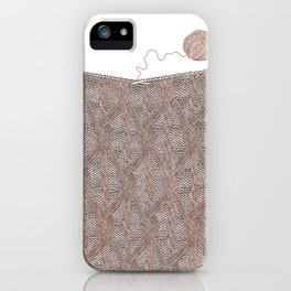 Knitting experience iPhone Case