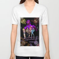 fnaf V-neck T-shirts featuring fnaf by Fateless Knight