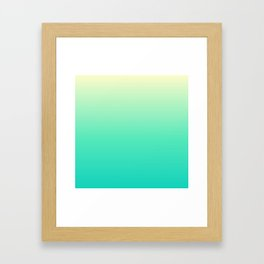 Minimal Gradient Framed Art Print