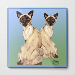 Siamese Cats Metal Print