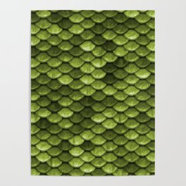 Mermaid Scales | Green with Envy Poster
