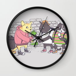 Meowy Wowy Wall Clock