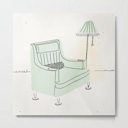 Grandma's Chair Metal Print