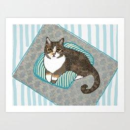 Max CatDoodle Art Print