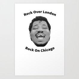 "Wesley Willis ""Rock Over London, Rock On Chicago"" Art Print"