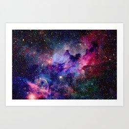 Galaxy Universe Stars Art Print