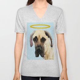Great Dane Art - I Didn't Do It Unisex V-Neck