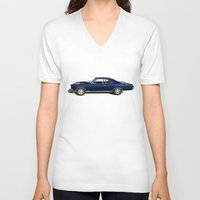 muscle V-neck T-shirts featuring Muscle Car by drQuill