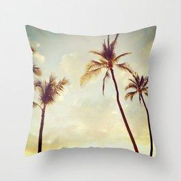 Hawaii Palms Throw Pillow