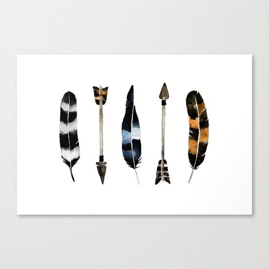 Flint & Feathers Canvas Print