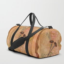 Music, pipe with clef and key notes Duffle Bag