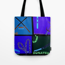 TMNT Weaponry  Tote Bag