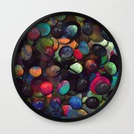 Colorful Gemstones 1 Wall Clock