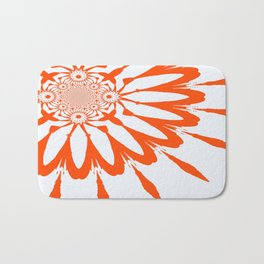 The Modern Flower White & Orange Bath Mat