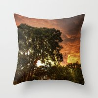 subaru Throw Pillows featuring Subaru Impreza WRX STi Sunset by Kozicki Photography