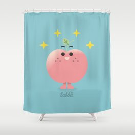 Happy Apple  Shower Curtain